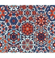 Seamless Red Blue One Block Wonder Quilt vector image