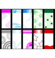 set of colorful vertical cards vector image