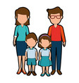 teachers couple with students avatars characters vector image
