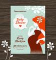Vintage baby shower invitation vector image