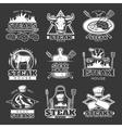 White Steak Emblem Set vector image