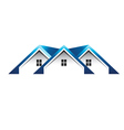 Roof houses logo vector image vector image