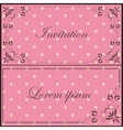 Vintage set of cards vector image vector image