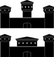 two castles vector image vector image