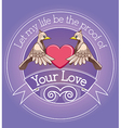 Bird in love vector image vector image