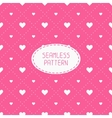 Pink romantic wedding geometric seamless pattern vector image