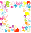 frame hands vector image vector image