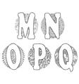 Doodle M Q vector image