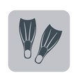 Diving flippers icon vector image
