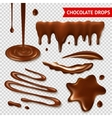 Chocolate transparent set vector image