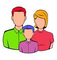 Family icon cartoon vector image