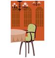 Luxury Dining Room vector image