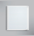 Realistic spiral notebook vector image