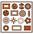 Set of isolated geometric patterns vector image