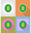 sport flat icons 51 vector image