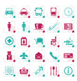 stylized airport travel and transportation vector image vector image