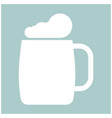 glass of beer the white color icon vector image