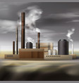 chemical factory smoke vector image