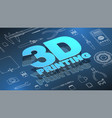 3d printing isometric background vector image