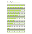 green loading bars vector image