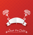 Red paper background vector image