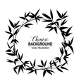 Bamboo decorative frame vector image vector image