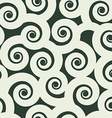 Funny curls seamless pattern black and white vector image