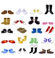 cartoon shoes set vector image