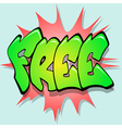 free sign label vector image vector image