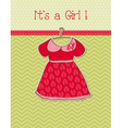 baby girl arrival card with place for your text vector image vector image