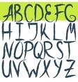 Hand drawn brushed letters alphabet Grunge font vector image