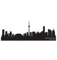 toronto canada skyline detailed silhouette vector image vector image