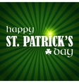 Happy StPatrick Day vector image