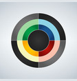 business circle infographic diagram presentation vector image