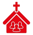 Church icon from Business Bicolor Set vector image