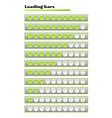 green loading bars vector image