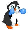 Penguin boy boxer vector image