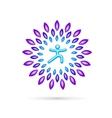 Round Yoga Emblem vector image