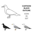 seagull icon in cartoon style isolated on white vector image