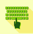 tapping on the keyboard icon flat style vector image