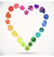 Watercolor hand painted circle round heart vector image