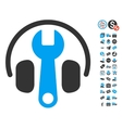 Headphones Tuning Wrench Icon With Free Bonus vector image