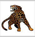 jaguar logo icon character vector image