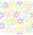 Seamless pattern with dotted flowers background vector image