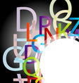 Design element with colorful alphabets vector image vector image