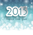 happy new year background on snowflake background vector image vector image