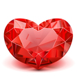 Ruby Heart vector image
