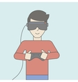 Virtual relaity headset vector image