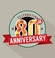80th Years Anniversary Celebration Design vector image
