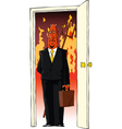 devil in the door vector image